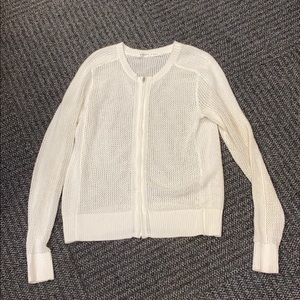 Athelta light knit full zip sweater size S EUC